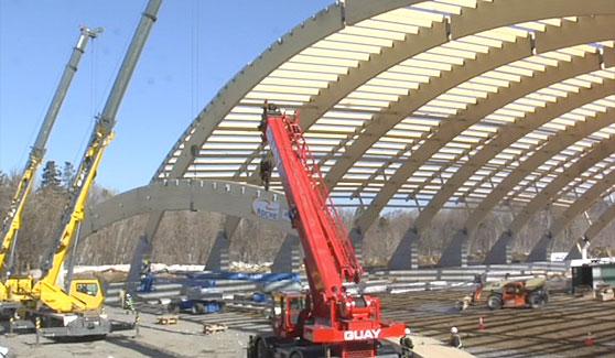 Construction du Stade Chauveau - 25 mars 2009